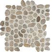 White Snowball Round Round Pebble Mosaics 12x12