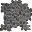 Black Pearl Round Round Pebble Mosaics 12x12