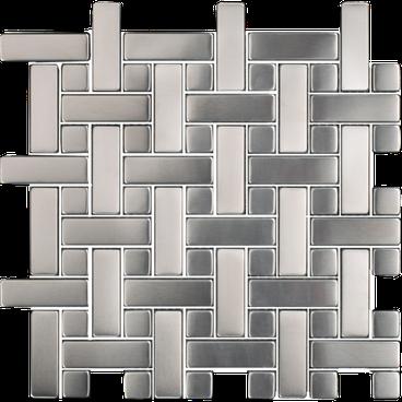 Stainless Basketweave Mosaic M12BW