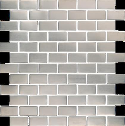Stainless Brick Mosaic M1x2