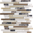 Cappuccino Random Strip Mosaics 12x12