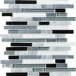 Midnight Random Strip Mosaics 12x12