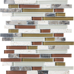 Cabernet Random Strip Mosaics 12x12