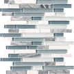 Waterfall Random Strip Mosaics 12x12