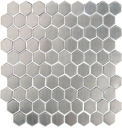 Stainless Small Hexagon Mosaic M12HEX