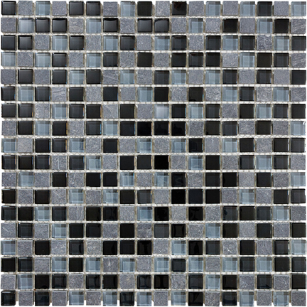 Black Timber 5/8 Mosaics 12x12