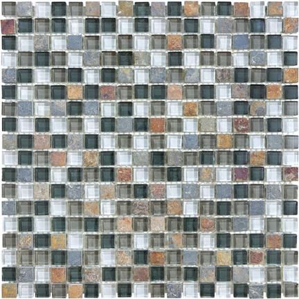 Smoky Mica 5/8 Mosaics 12x12