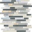 Silver Aspen Random Strip Mosaics 12x12