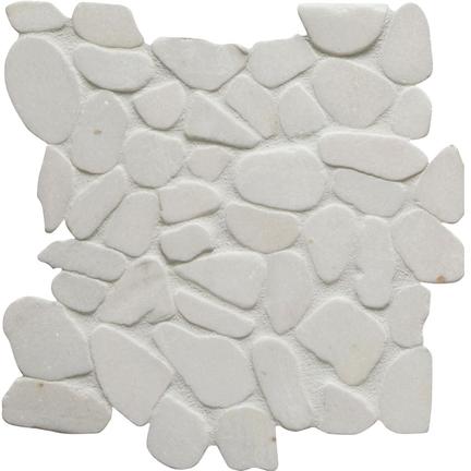 Cotton Flat Flat Pebble Mosaics 12x12