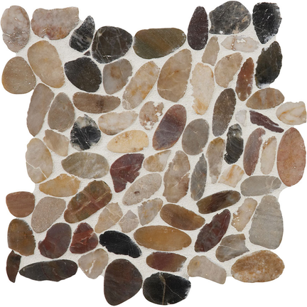 Mixed Salad Flat Flat Pebble Mosaics 12x12