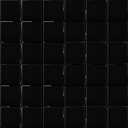 Black 36 Piece Mosaics (Matte Finish) M122