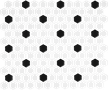 Black & White 1X1 Hexagon Mosaics (Matte Finish) M1x1HEX