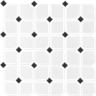 Black & White 2X2 Octagon Mosaics (Matte Finish) M2x2OCT
