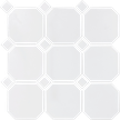 White 4X4 Octagon Mosaics (Matte Finish) M4x4OCT
