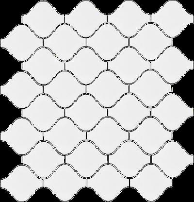White Arabesque Mosaics (Gloss Finish) M12BULB