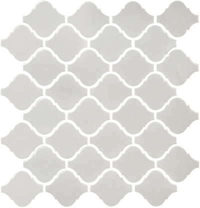 Warm Grey Arabesque Mosaics (Gloss Finish) M12BULB