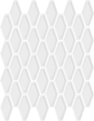 White Convex Hex Mosaics (Gloss Finish) M12CONVEX