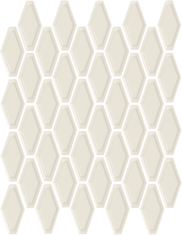 Biscuit Convex Hex Mosaics (Gloss Finish) M12CONVEX