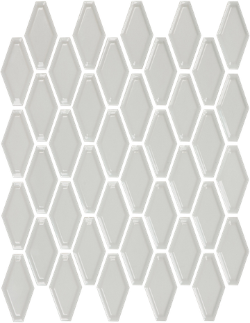 Warm Grey Convex Hex Mosaics (Gloss Finish) M12CONVEX