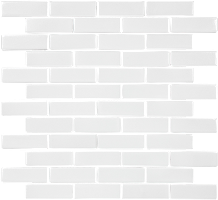 White Brick Mosaics (Gloss Finish) M1x3BRICK