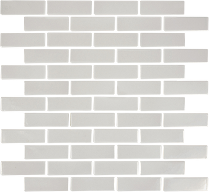 Warm Grey Brick Mosaics (Gloss Finish) M1x3BRICK