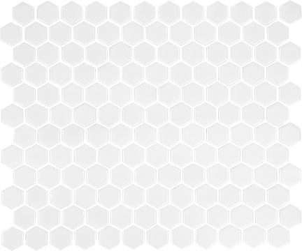 White 1X1 Hexagon Mosaics (Matte Finish) M1x1HEX