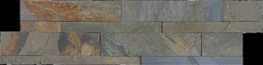 Basalt Splitface Slate Ledgerstone 6x24