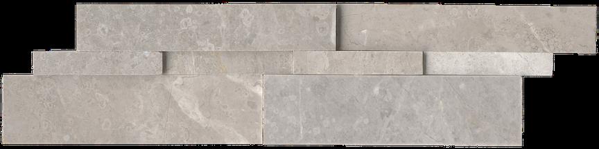 Argento Honed Marble Ledgerstone 6x24