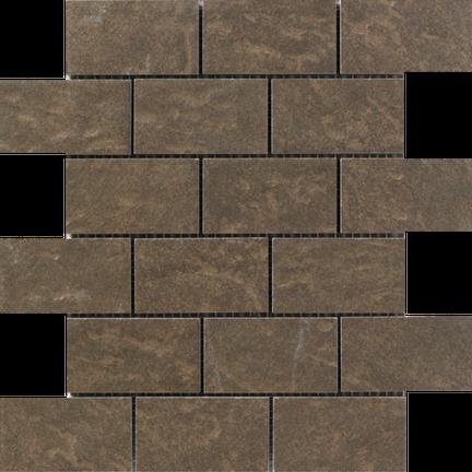 Dark Pebble Brick Mosaics M2x4