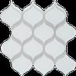 Pure White w/Calm Green Arabesque Mosaics M12BLUB