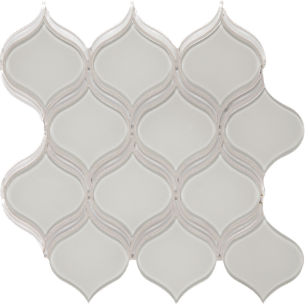 Balance Beige w/Pure White Arabesque Mosaics M12BLUB