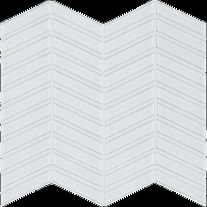 Pure White Chevron Mosaics M12CHEV