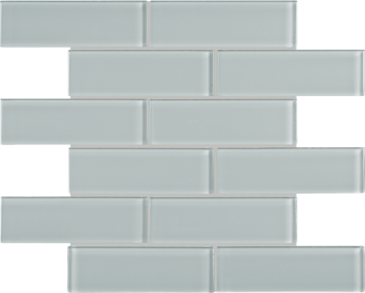 Calm Green Brick Mosaics M2x6BRICK