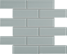 Quiet Gray Brick Mosaics M2x6BRICK
