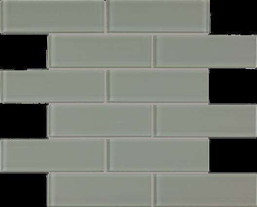 Serenity Sage Brick Mosaics M2x6BRICK
