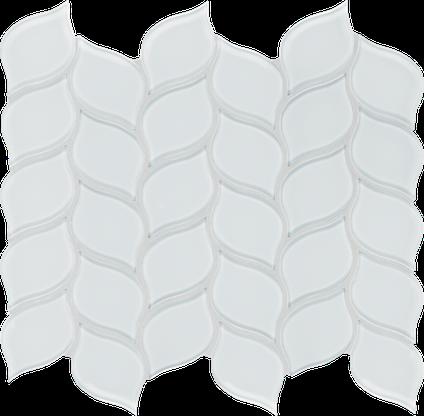 Pure White Petal Mosaics M12PETAL