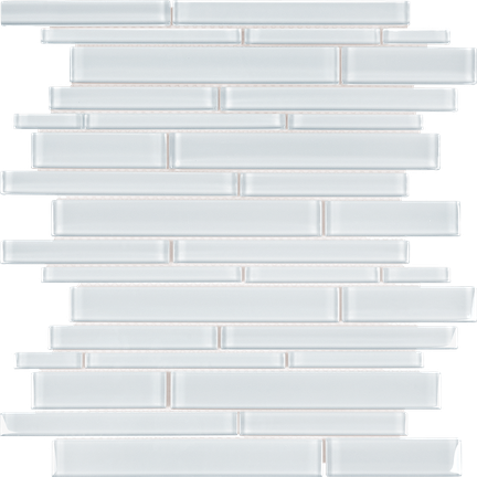 Pure White Random Strip Mosaics RSP