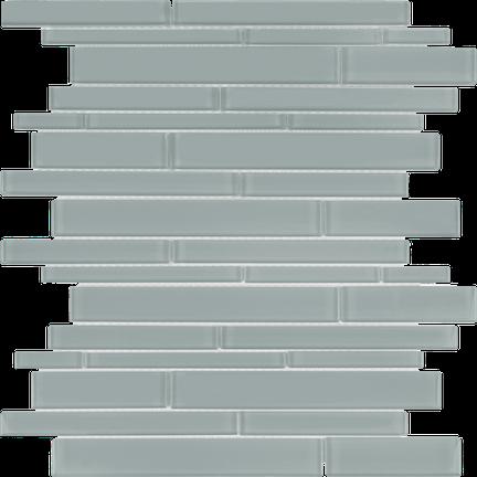 Quiet Gray Random Strip Mosaics RSP