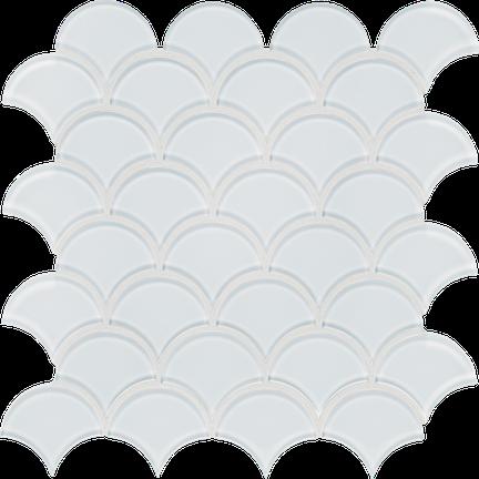 Pure White Scallop Mosaics M12SCP