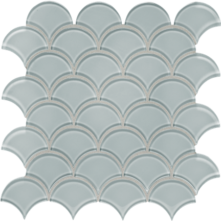 Calm Green Scallop Mosaics M12SCP