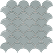 Quiet Gray Scallop Mosaics M12SCP