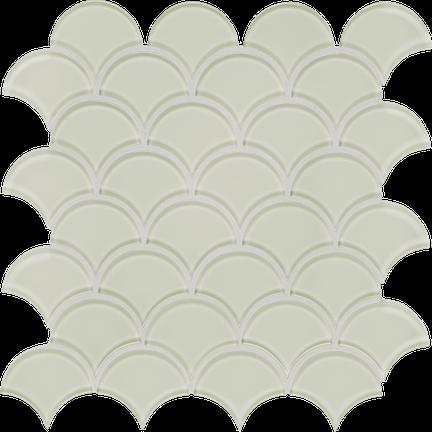 Content Cream Scallop Mosaics M12SCP