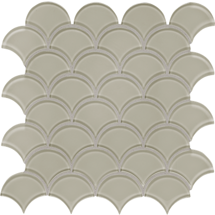 Tranquil Tan Scallop Mosaics M12SCP