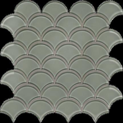Serenity Sage Scallop Mosaics M12SCP