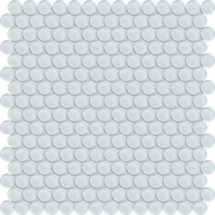 Pure White Penny Round Mosaics M12PENNY
