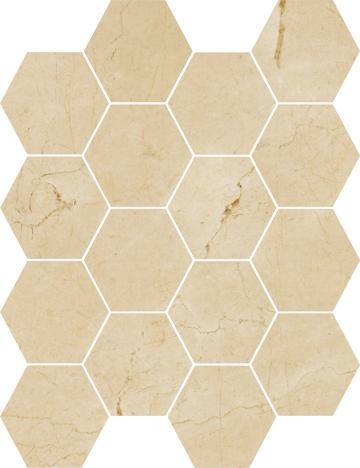 Grace Hexagon Mosaics (Matte) M3x3HEX