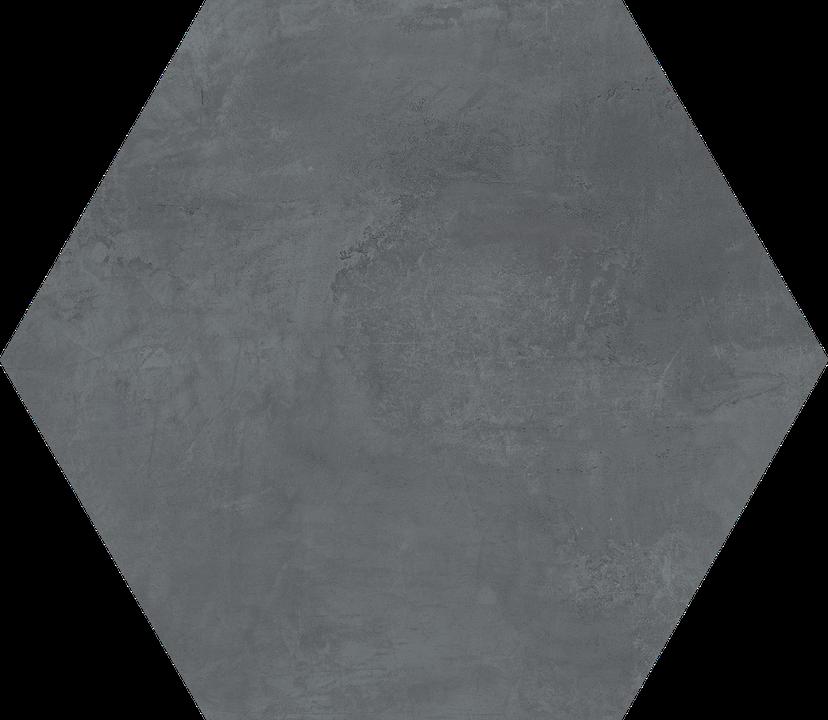 Tompkins Blue/Black Floor/Wall Tile (Waterjet Cut) 22.5x22.5HEX