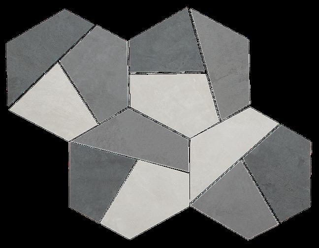 Cool Mix Hexagon Mosaic M7x7HEX