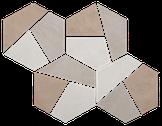 Warm Mix Hexagon Mosaic M7x7HEX