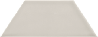 Bashful Beige Glossy Wall Tile - Trapezoid (Glossy) 4x9TPZ